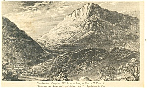 Cumberland Gap in 1872 Etching Postcard p13293 (Image1)