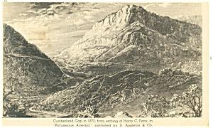 Cumberland Gap in 1872 Etching Postcard p13293 (Image1)