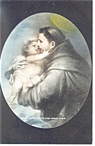 St Anthony with the Christ Child Postcard (Image1)