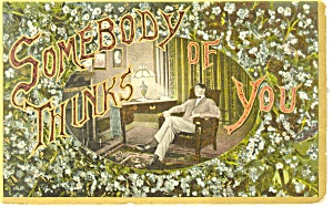 Somebody Thinks of You Postcard p13295 (Image1)