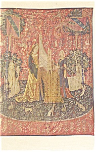 The Lady And The Unicorn Tapestry Postcard P13298