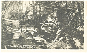 Dover Plains Ny Approach To Stone Church Postcard P13299