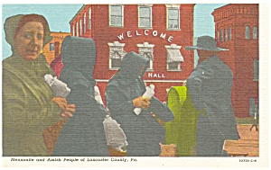 Lancaster County,PA Amish Mennonite People Postcard (Image1)