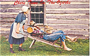Chore Time in the Ozarks Postcard (Image1)