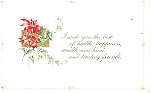 Best Wishes German Postcard Flowers (Image1)