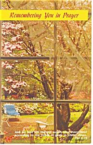 Remembering you in Prayer Postcard Phil 4:19 p13352 (Image1)