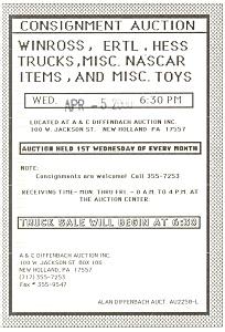 Winross Hess Ertl Truck Auction Postcard p13353 2000 (Image1)