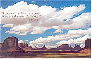 O Sing unto the Lord Postcard Psalm 98:1 p13354 (Image1)