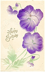 Birthday Postcard Flowers ca 1907 (Image1)