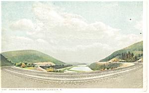 Horseshoe Curve PA Detroit 71933 Postcard p13360 1918 (Image1)