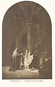 Rembrandt Simeon in den Temple Postcard p13372 (Image1)