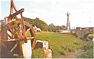 Amish Water Wheel Postcard P13394