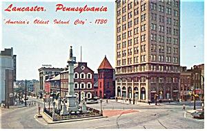 Lancaster PA Penn Square Postcard p13414 (Image1)
