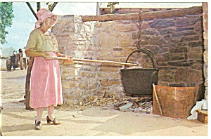 Pennsylvania Dutch Making Apple Butter Postcard (Image1)