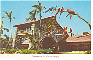 Entrance to Parrot Jungle Miami FL  Postcard p13429 (Image1)
