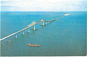 Sunshine Skyway Florida  Postcard p13434 1960 (Image1)