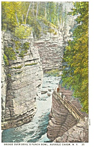 Ausable Chasm Ny Devil S Punch Bowl Postcard P13451
