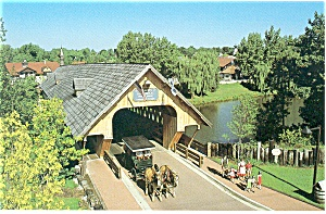 Frankenmuth Mi Covered Bridge Postcard P13466