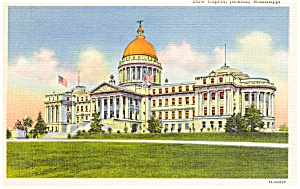Jackson Mississippi State Capitol Postcard p1351 (Image1)