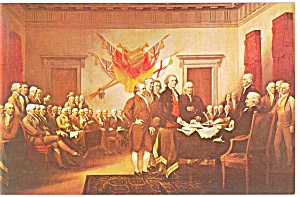 Signing Declaration Of Independence Postcard P13521