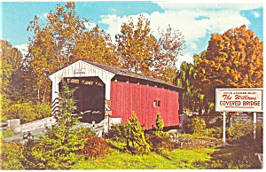 The Willows Covered Bridge, PA Postcard (Image1)