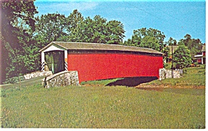 Covered Bridge, PA Amish Country Postcard (Image1)