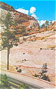 White Arch Zion National Park UT Postcard p13542 1979 (Image1)