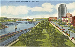 St Paul MN Kellogg Blvd Postcard (Image1)