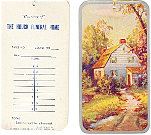 Houcks'  Funeral Home Bookmark Ad Item (2) (Image1)