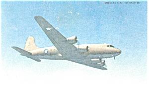 C 54 Douglas Skymaster Army Transport Postcard p13557 (Image1)