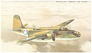 Douglas DB-7 and A20 Attack Bomber Postcard (Image1)