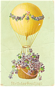 Birthday Greetings Balloon Postcard (Image1)