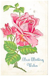 Best Birthday Wishes  Postcard 1908 (Image1)