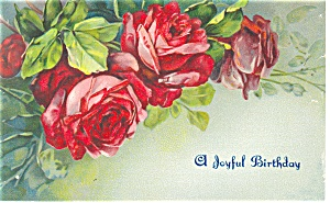 A Joyful Birthday Postcard 1908 (Image1)
