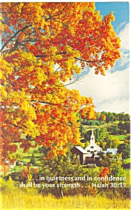 in quietness and in confidence Isaiah 30:15 Postcard (Image1)