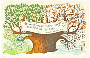 He hath made everything beautiful,Ecc 3:11 Postcard (Image1)