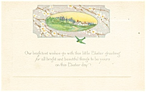 Bright Wishes on Easter  Postcard (Image1)