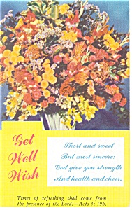 Get Well Wish Postcard