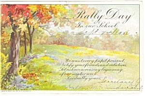 Rally Day Postcard p13619 1911 (Image1)
