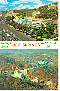 Hot Springs National Park Arkansas Postcard p13651 1968 (Image1)