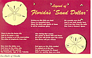 Legend of Floridas Sand Dollar Postcard 1967 (Image1)
