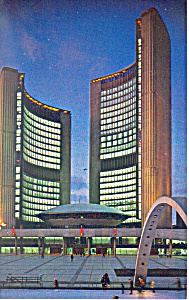 City Hall of Toronto,Ontario Postcard 1967 (Image1)