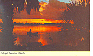 Colorful Sunset in Florida Postcard p13664 1967 (Image1)