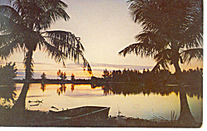 Sanibel Island,fl Sunset Postcard 1964