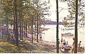 Clark Hill Reservoir Augusta Georgia Postcard p13679 1961 (Image1)