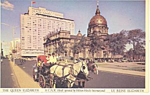 Queen Elizabeth Hotel Montreal  Quebec Canada Postcard p13689 (Image1)