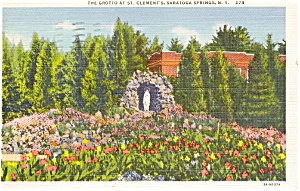 Saratoga  Springs NY St Clements Postcard p1368 (Image1)