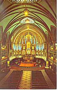 Notre Dame Church Montreal  Quebec Canada Postcard p13722 (Image1)