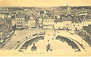 Hotel de Ville, Vannes, France Postcard (Image1)