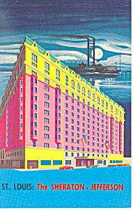 Sheraton Jefferson Hotel St Louis  MO Postcard p13757 1966 (Image1)